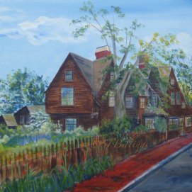 """Turner Street View, acrylic, 18"""" x 24"""" (The House of the Seven Gables, Salem, MA)"""