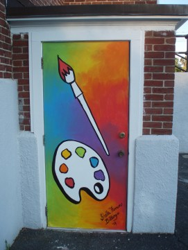 Painted Door Project for the Danvers Art Association's historic 2-room schoolhouse, 105 Elliot St., Danvers, MA