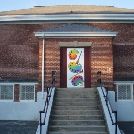 Painted Door Project, Danvers Art Association, Elliot St., Danvers, MA