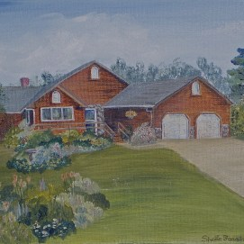 "Iowa Home, acrylic, 11"" x 14"""