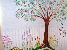 360 degree garden mural for little girls' room, East Boston, MA