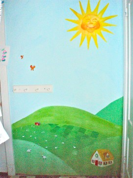 360 degree countryside mural for children's room, Boston, MA