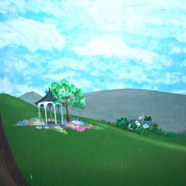 360 mural for Golf Team practice room, Salem State University, O'Keefe Sports Complex, Salem, MA