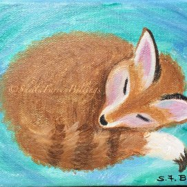 "Dozing Fox Kit, 4"" x 4"""