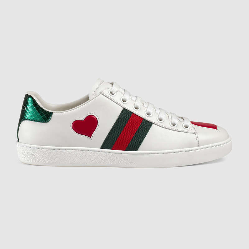gucci hearts sneakers