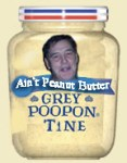 image of a mustard jar with a man's face on it