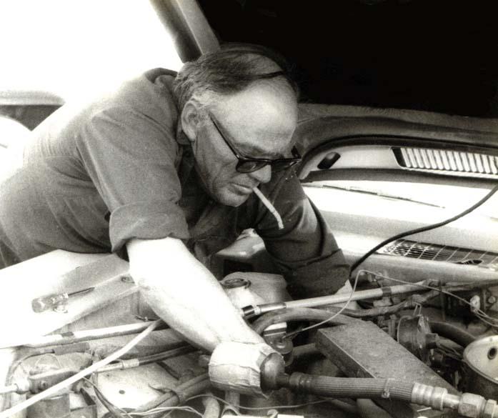 image of mechanic smoking a cigarette