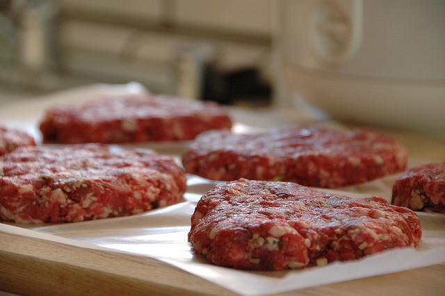 image of raw burger patties