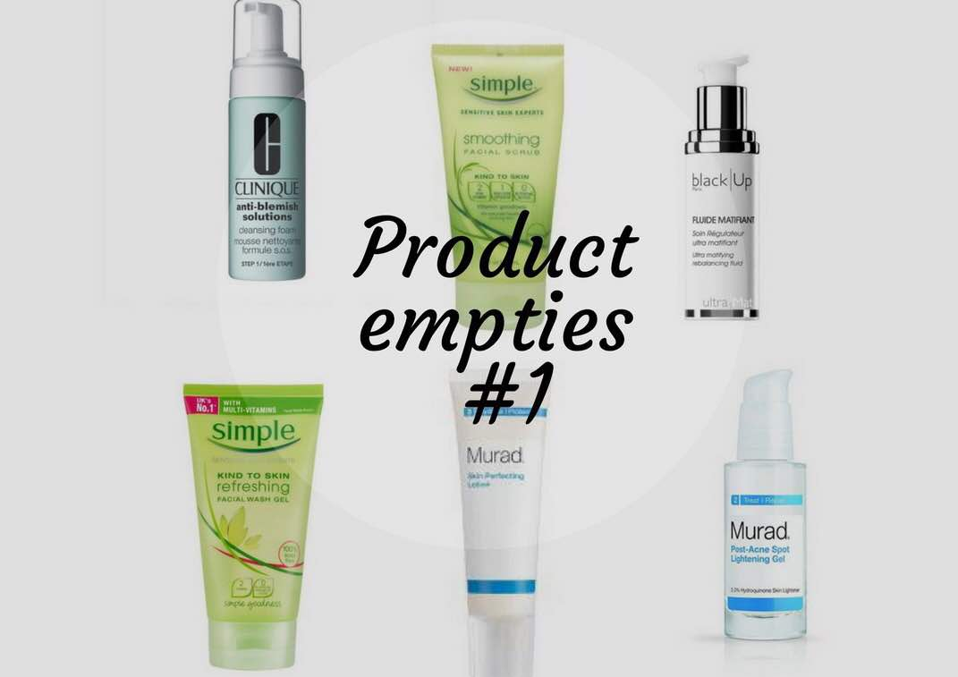 Product empties #1 - Sheisnaturallybronze