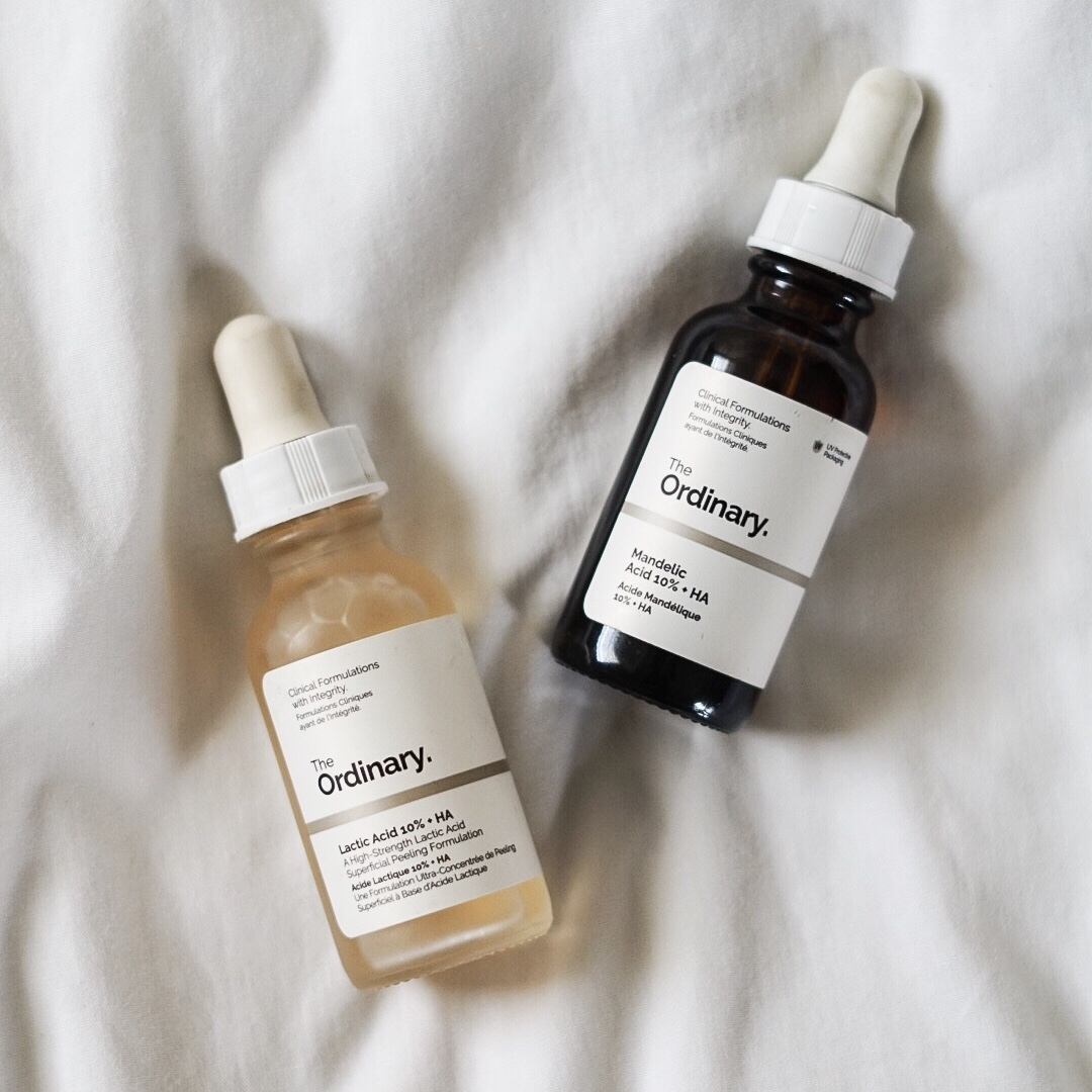 The Ordinary Mandelic Acid 10% vs Lactic Acid 10%