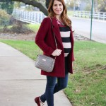 Burgundy Jacket & Stripes