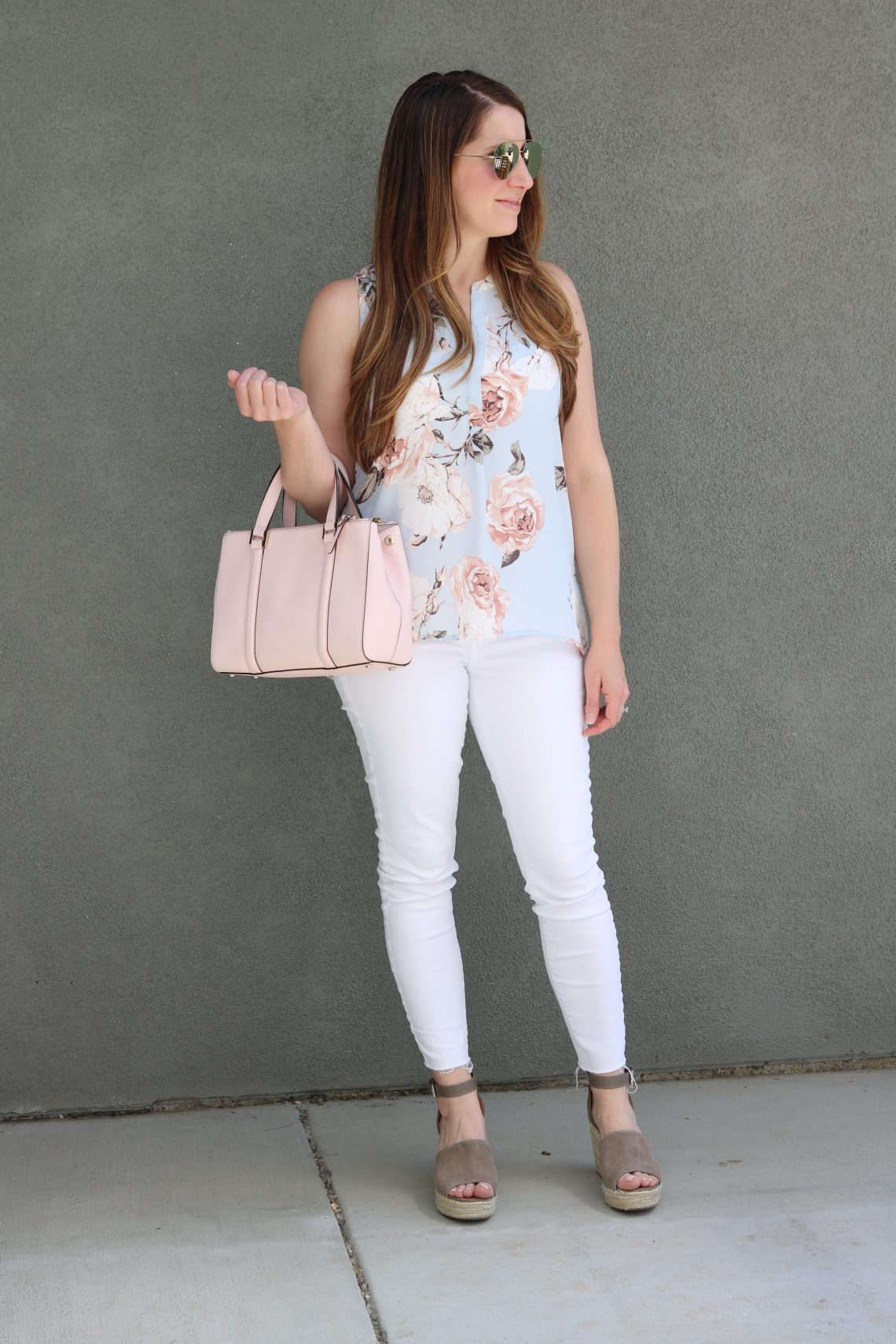 floral top outfit