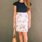 Floral Skirt & Back to Work