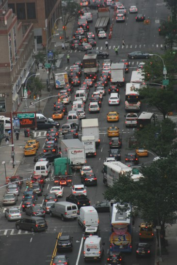 Traffic on 48th NYC 0704 Copyright Shelagh Donnelly