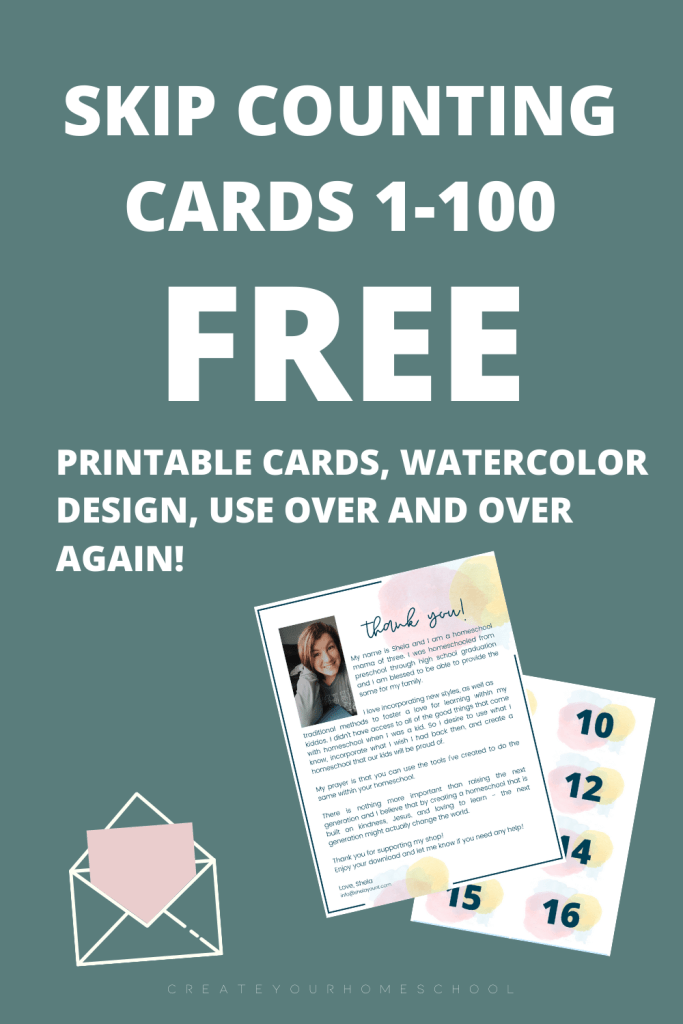 Looking for skip counting activities or skip counting printables? I've got you! Click through to read this post and grab my FREE downloadable cards 1-100!