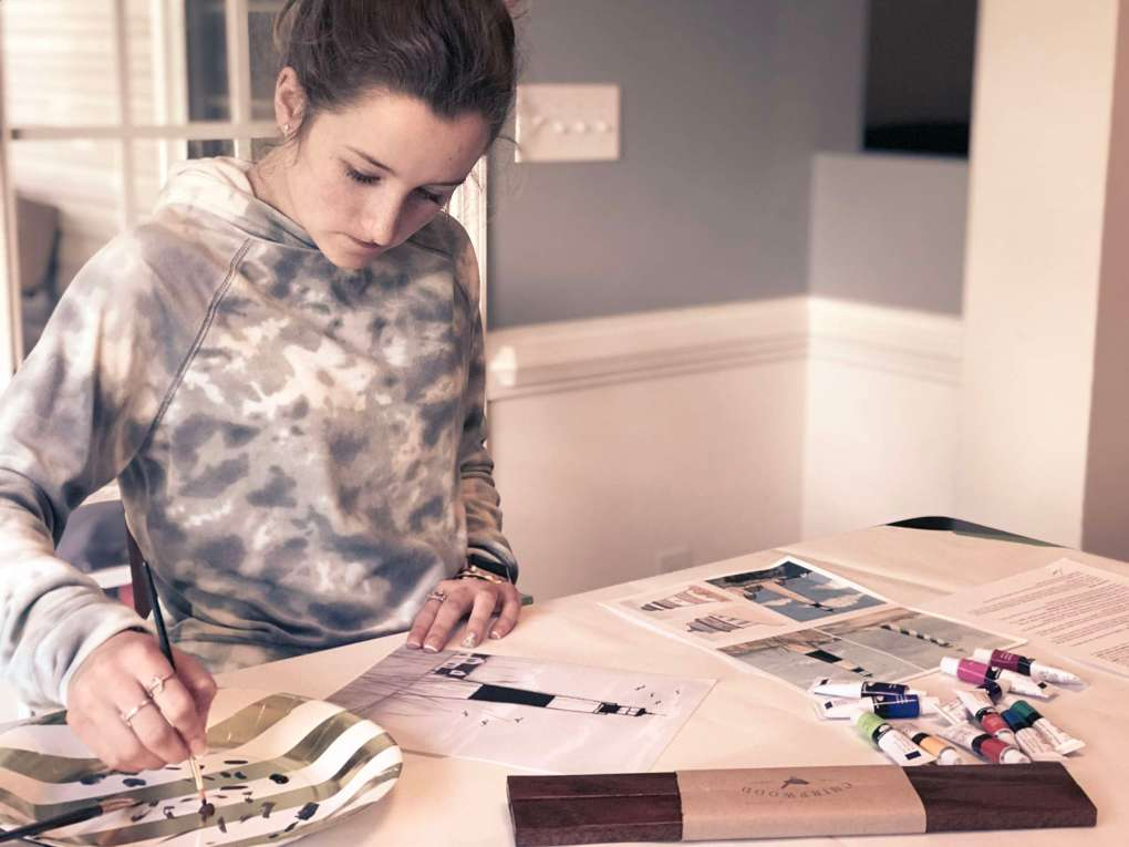 Homeschool art class does not have to be overwhelming! Click through to see what we're using to teach homeschool art at home :)