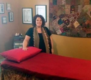 Photo by Michelle Janzen Jodi Jones, owner of Being in Balance in her new location at 155 Main Street West.