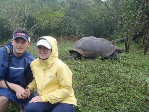 On Santa Maria Island in the Galapagos with the Giant Tortoise, 2010