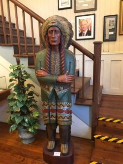Wooden Indian-Part of Collection on Loan by Columbiana Mayor Stancil Handley