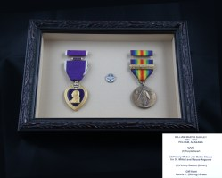 Purple Heart, Victory Medal and Vistory Button