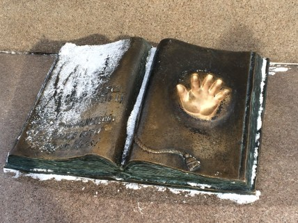 Imprint of the presidents hand. Put your hand in and make a wish