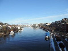 Canal surrounding Fredrikstad in a star shape