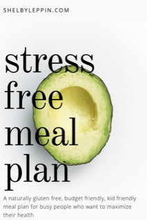 stress free meal plan