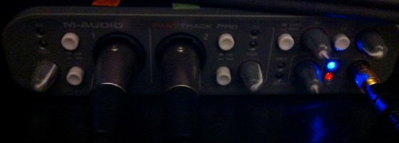 Okay, no forgetting the phantom power this time. Red light = (: