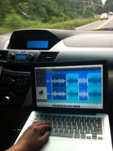 It's probably getting desperate when you're editing in the car...