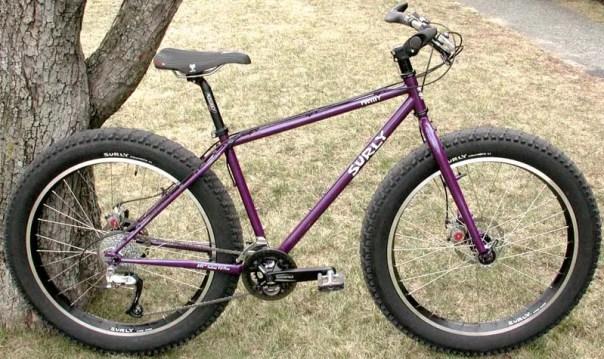 En 2005, Surly avec son Pugsley, arrive sur le marché avec le premier FAT bike de production avec ses jantes Large Marge de 65mm et ses pneus Endomorph de 3.7 pouces. La FAT bike moderne était né! Il proposait des moyeux de 135mm (avant et arrière) et un boitier de pédalier de 100mm.