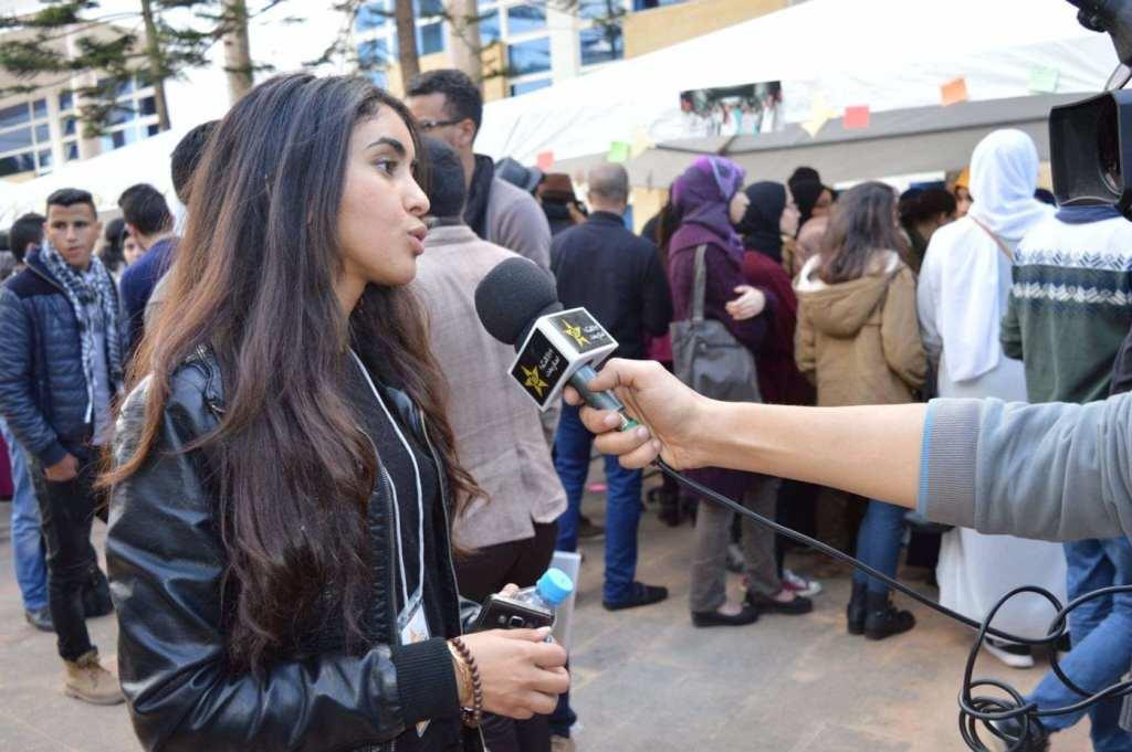TV interview at the Enactus Regional Summit