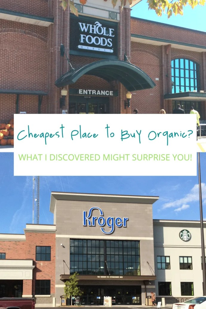 Where's the cheapest place to buy organic? Is Whole Foods really whole paycheck? What I discovered when I compared prices might surprise you! #organic #wholefoods