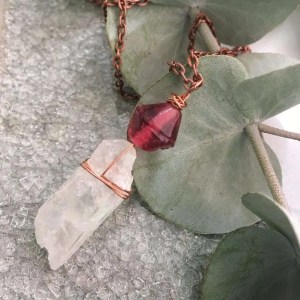 Quartz crystal necklace Galentine's Day giveaway