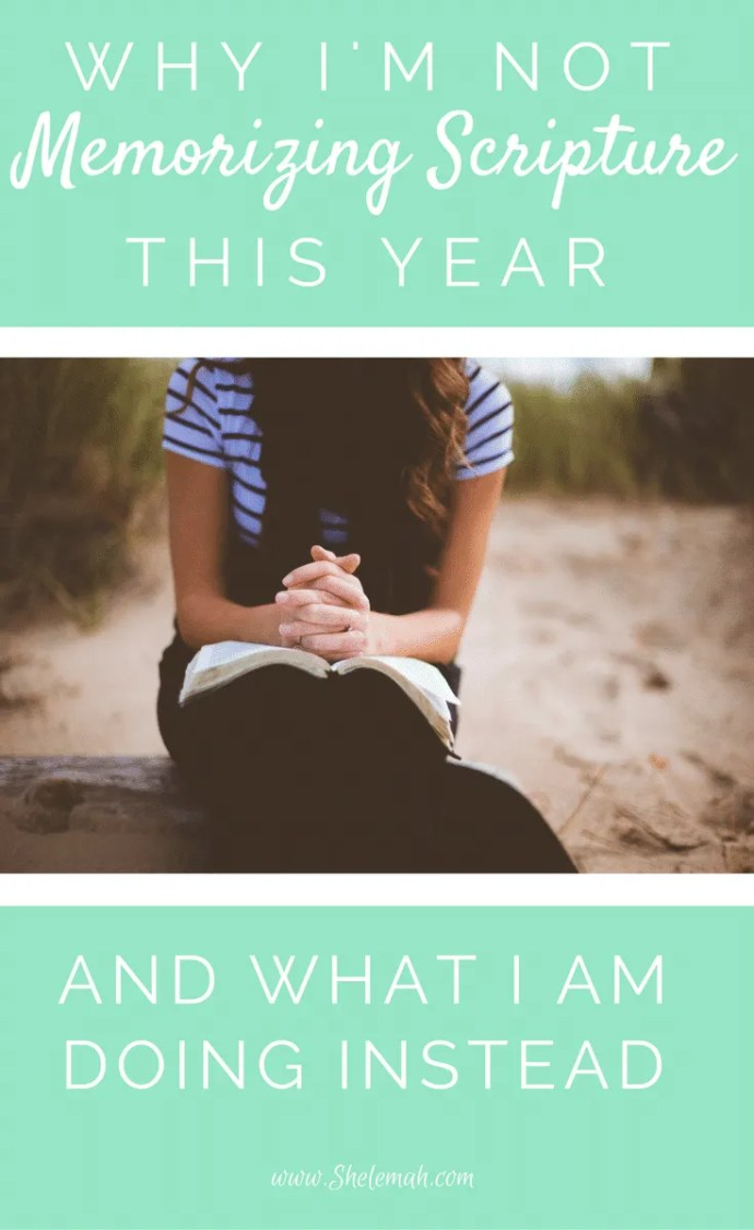 Why I'm not memorizing scripture this year plus what I am doing instead #Biblestudy #scripture