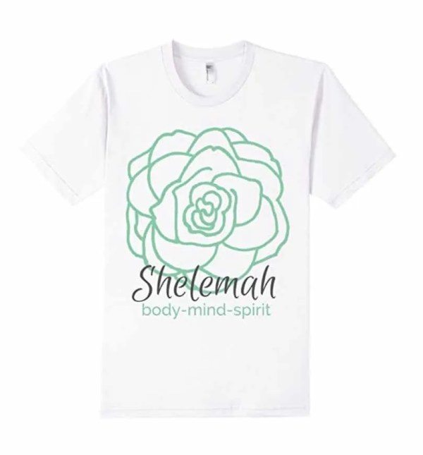 body mind spirit shirt with Shelemah logo