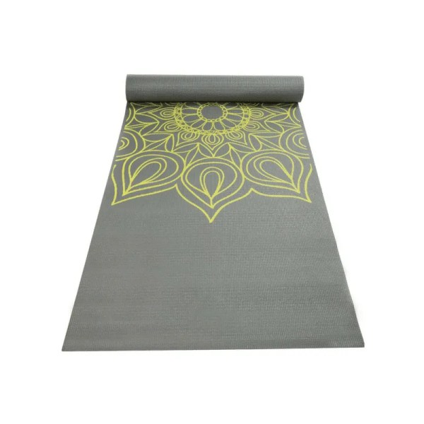 Yoga mat with henna pattern