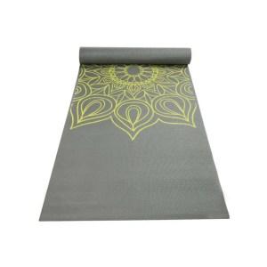Yoga mat with henna pattern