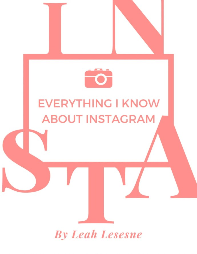 Everything I know about Instagram ebook with worksheets