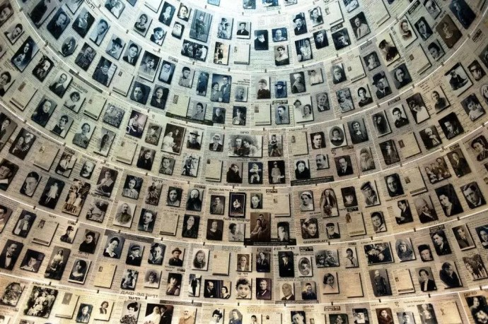 Hall of names in Holocaust Memorial site in Jerusalem, Israel. Holocaust survivors families have been studied with epigenetic research.