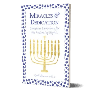 Miracles and Dedication book Christian devotions for Hanukkah