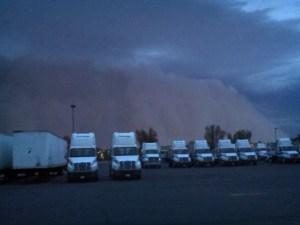 Dust Storm Heading Towards the Dock