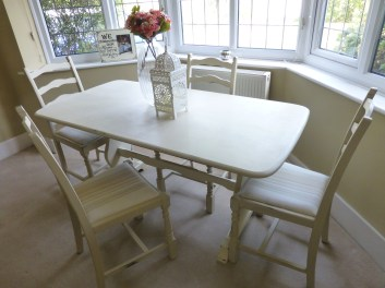 Ochre Vintage Dining Table and Four Chairs, £299