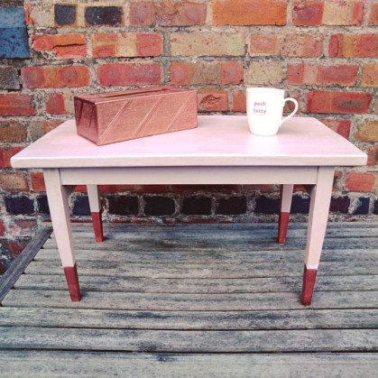 Pastel Pink and Copper Table, £45
