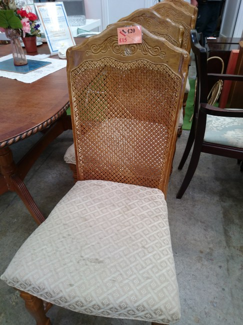 Cain Back Wooden Chairs