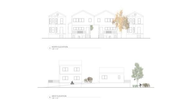 Infill Strategy_North and West Elevation