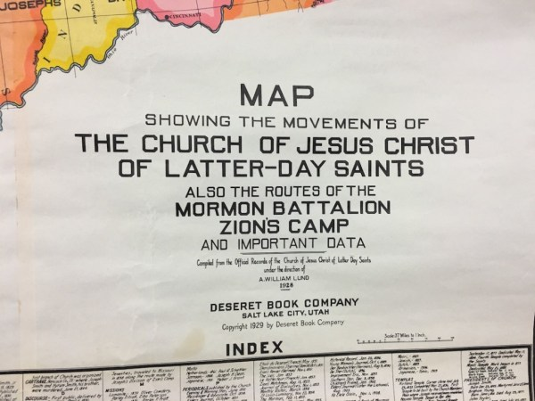 New Beginnings Press Forward With A Steadfastness in Christ antique map of trails of Mormon Pioneers