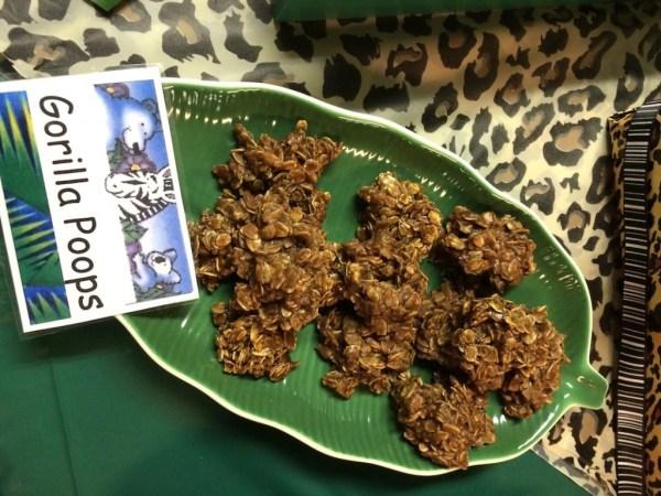 """""""Gorilla Poops"""" (no-bake cookies)"""