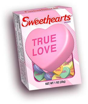 Conversation Hearts upon completing quest on Island of Love (Heart)