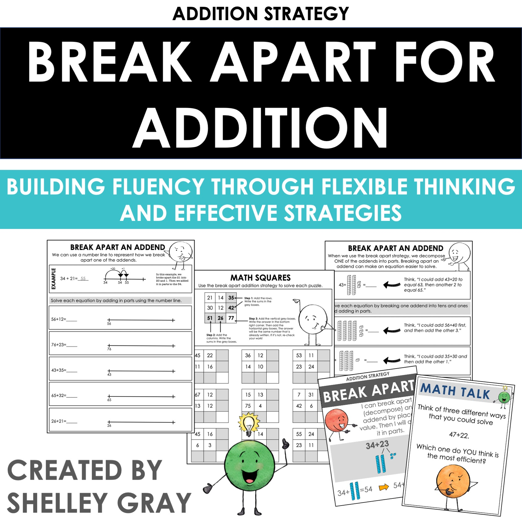 Breaking Apart An Addend An Addition Strategy