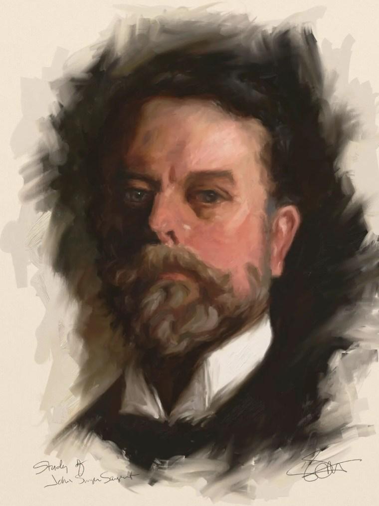 Sargent Self Portrait Study
